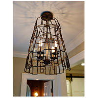 Crystorama 325-RS Lattice 4 Light 16 inch Raw Steel Chandelier Ceiling Light alternative photo thumbnail