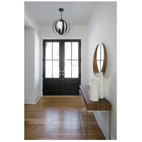 Crystorama 6461-MK Arlo 1 Light 12 inch Matte Black Mini Chandelier Ceiling Light alternative photo thumbnail
