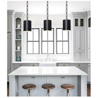 Crystorama 8680-MK-WH Alston 1 Light 8 inch Matte Black Mini Chandelier Ceiling Light alternative photo thumbnail