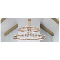 Crystorama CLO-8890-AG Clover 24 Light 40 inch Aged Brass Chandelier Ceiling Light in Aged Brass (AG)