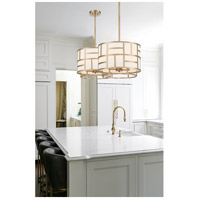 Crystorama DAN-404-VG Danielson 4 Light 17 inch Vibrant Gold Chandelier Ceiling Light