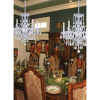 Crystorama Traditional Crystal 5 Light Chandelier in Polished Chrome 1005-CH-CL-MWP alternative photo thumbnail