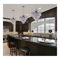 Crystorama 120-CH Chloe 3 Light 12 inch Polished Chrome Pendant Ceiling Light alternative photo thumbnail