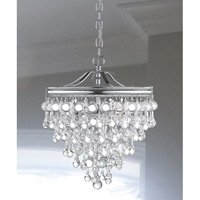 Crystorama 130-CH Calypso 3 Light 12 inch Polished Chrome Mini Chandelier Ceiling Light in Polished Chrome (CH) alternative photo thumbnail