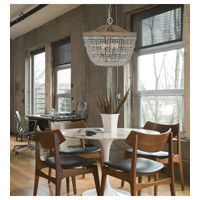 Crystorama Eva 3 Light Chandelier in Burnished Silver 267-BS alternative photo thumbnail