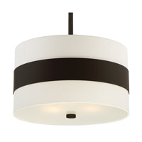Crystorama 295-DB Grayson 3 Light 18 inch Dark Bronze Pendant Ceiling Light in Dark Bronze (DB), Cream Linen alternative photo thumbnail