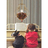 Crystorama Lighting Fiore 1 Light Hanging Lantern in Antique Gold Leaf & Murano Leaves 403-GA alternative photo thumbnail