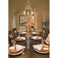 Crystorama Fiore 3 Light Foyer Lantern in Antique Gold Leaf 407-GA alternative photo thumbnail