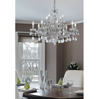 Crystorama 4479-CH-CL-MWP Maria Theresa 12 Light 29 inch Polished Chrome Chandelier Ceiling Light in 5, Clear Crystal (CL), Hand Cut, Polished Chrome (CH) alternative photo thumbnail