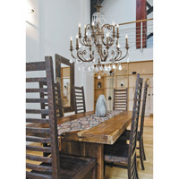 Crystorama Regis 12 Light Chandelier in English Bronze 5119-EB-CL-MWP alternative photo thumbnail