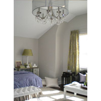 Crystorama 5625 Ch Hampton 5 Light 24 Inch Polished Chrome Chandelier Ceiling In