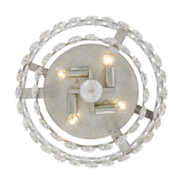 Perla 4 Light 14 inch Antique Silver Flush Mount Ceiling Light