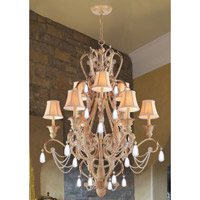 Crystorama Winslow 12 Light Chandelier in Champagne 6709-CM alternative photo thumbnail