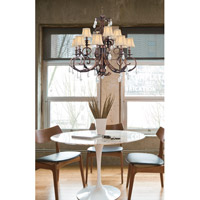 Crystorama Royal 12 Light Chandelier in Florentine Bronze 6909-FB-CL-MWP alternative photo thumbnail