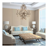 Crystorama 7526-DT Shelby 6 Light 28 inch Distressed Twilight Chandelier Ceiling Light alternative photo thumbnail