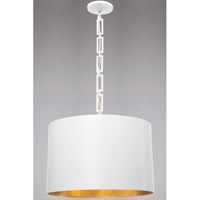 Crystorama 8686-MT-GA Alston 6 Light 20 inch Matte White and Antique Gold Chandelier Ceiling Light