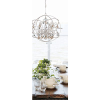 Crystorama 9026-OS-GS-MWP Solaris 5 Light 22 inch Olde Silver Chandelier Ceiling Light alternative photo thumbnail