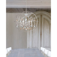 Crystorama 9028-OS-GS-MWP Solaris 6 Light 28 inch Olde Silver Chandelier Ceiling Light in Golden Shadow (GS), Hand Cut, Olde Silver (OS) alternative photo thumbnail