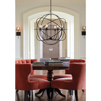 Crystorama 9228-EB Solaris 6 Light 29 inch English Bronze Chandelier Ceiling Light in English Bronze (EB) alternative photo thumbnail