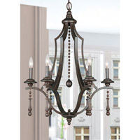Crystorama 9356-EB Parson 6 Light 26 inch English Bronze Chandelier Ceiling Light in English Bronze (EB) alternative photo thumbnail