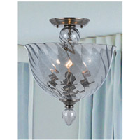 Crystorama 9843-CH-IB Harper 3 Light 14 inch Polished Chrome Semi Flush Mount Ceiling Light in Ice Blue (IB) alternative photo thumbnail