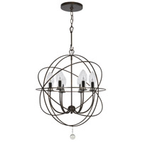 Solaris 6 Light 23 inch English Bronze Outdoor Chandelier