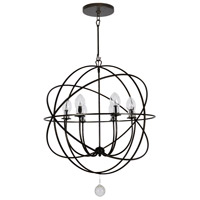 Crystorama SOL-9328-EB Solaris 6 Light 29 inch English Bronze Chandelier Ceiling Light