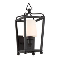 Sylvan 1 Light 14 inch Black Forged Outdoor Wall Mount, Libby Langdon