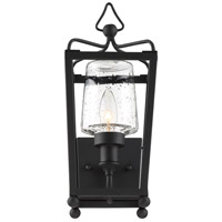 Crystorama SYL-2211-SD-BF Sylvan 1 Light 18 inch Black Forged Outdoor Wall Mount in Seeded