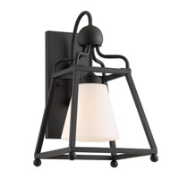 Sylvan 1 Light 15 inch Black Forged Outdoor Wall Mount, Libby Langdon