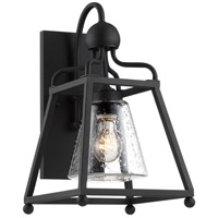 Crystorama SYL-2281-SD-BF Sylvan 1 Light 15 inch Black Forged Outdoor Wall Mount in Seeded