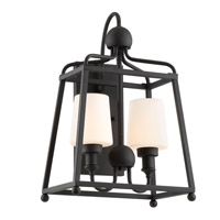 Sylvan 2 Light 18 inch Black Forged Outdoor Wall Mount, Libby Langdon