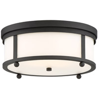 Sylvan 3 Light 15 inch Black Forged Outdoor Flush Mount