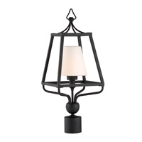 Sylvan 1 Light 23 inch Black Forged Outdoor Lantern Post, Libby Langdon