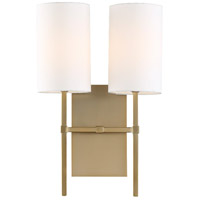 Crystorama VER-242-AG Veronica 2 Light 11 inch Aged Brass Wall Sconce Wall Light in Aged Brass (AG)