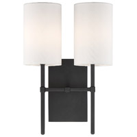 Veronica 2 Light 11 inch Black Forged Wall Mount Wall Light