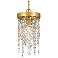 Crystorama WIN-610-GA-CL-MWP Windham 1 Light 7 inch Antique Gold Pendant Ceiling Light photo thumbnail