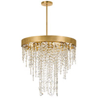Crystorama WIN-615-GA-CL-MWP Winham 5 Light 20 inch Antique Gold Chandelier Ceiling Light