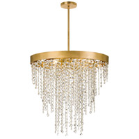 Crystorama WIN-616-GA-CL-MWP Winham 6 Light 24 inch Antique Gold Chandelier Ceiling Light