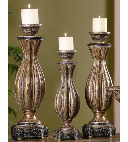 Crestview Collection CVCHE218 Avignon 24 X 21 inch Candleholders, Set of 3 photo