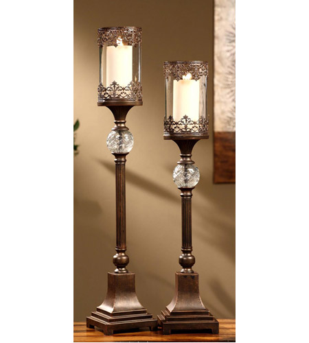 Crestview Collection CVCHI563 Ashland 34 inch Candleholders, Set of 2 photo