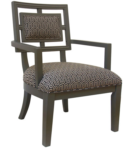 Crestview Collection CVFZR1662 Sydney Grey Accent Chair photo