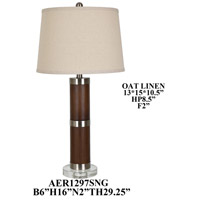Crestview Collection AER1297SNG Element Crystal Table Lamp Portable Light