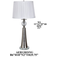 Crestview Collection AER1301SNG Element Brushed Nickel Table Lamp Portable Light