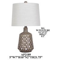 Crestview Collection AP2189SNG Element Table Lamp Portable Light