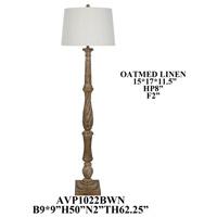Crestview Collection AVP1022BWN1P Amelia 63 inch 150.00 watt Handfinished Brown Floor Lamp Portable Light