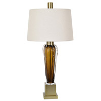 Axton 35 inch 100 watt Amber and Soft Brass Table Lamp Portable Light