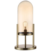 Crestview Collection CVABS1645 Malouf 23 inch 40.00 watt Soft Brass and Amber Pearl Done Lamp Portable Light Large