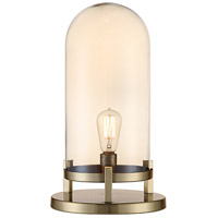 Crestview Collection CVABS1646 Malouf 19 inch 40.00 watt Soft Brass and Amber Pearl Done Lamp Portable Light Medium