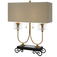 Crestview Collection CVAER1000 Adriana 34 inch 60 watt Gold and Black Table Lamp Portable Light